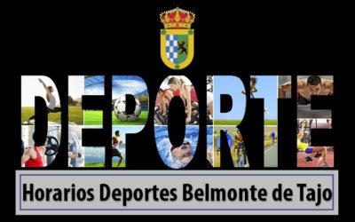 Horarios Deportes Belmonte de Tajo