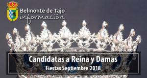 Candidatas a Reina y Damas Fiestas 2018 @ Plaza Belmonte De Tajo | Belmonte de Tajo | Comunidad de Madrid | España