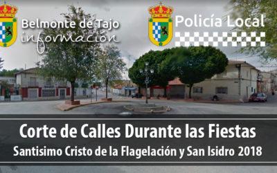 Corte de Calles Fiestas Mayo 2018