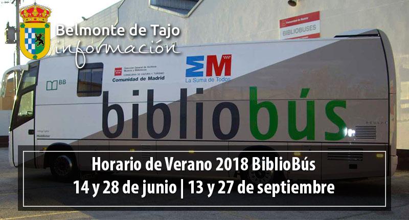 Horario de Verano BiblioBús 2018